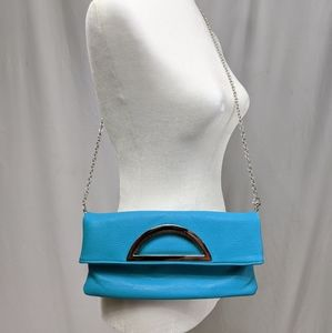 Teal Foldable Clutch Purse